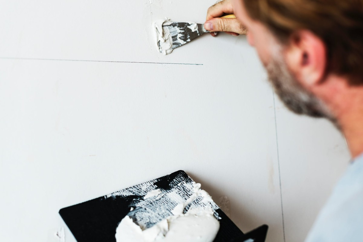 Make sure to smooth out any uneven areas before repainting the surface.