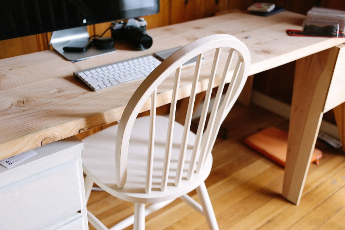 Even if your writing space is a table pushed up against as wall, or tucked into a corner, keeping it clean and tidy will make the space feel less cramped and more spacious.