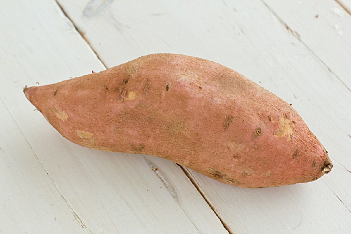 You will want to start off with a good potato that has several nodes that will ensure sprouting.  Sometimes potatoes have a pesticide that prevents sprouting so it is preferable to purchase an organic potato.