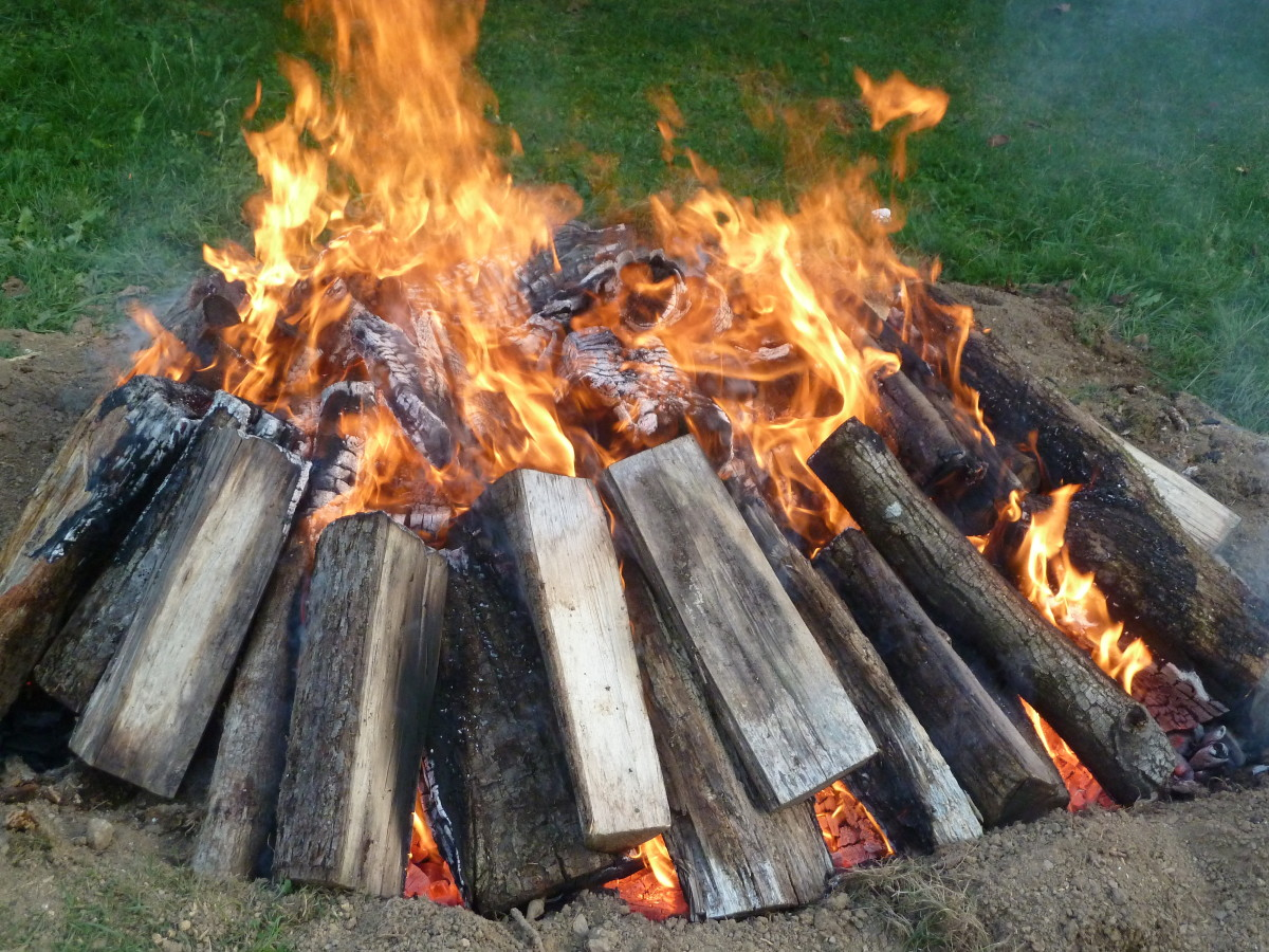 The easy way to burn a tree stump: build a fire.