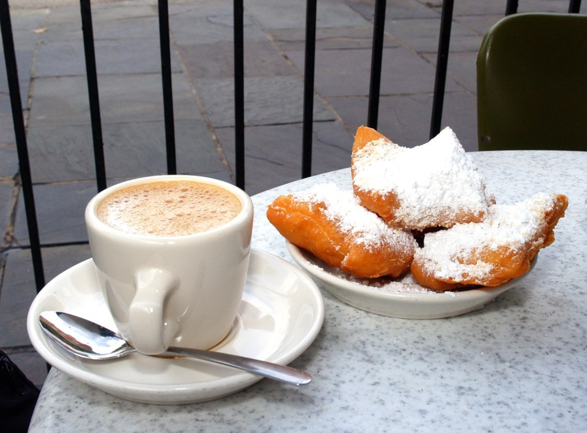 Chicory coffee and beignets are a classic New Orleans breakfast