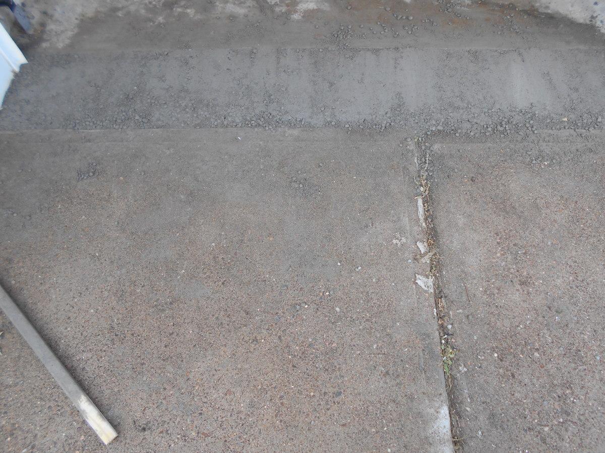 Drying concrete.