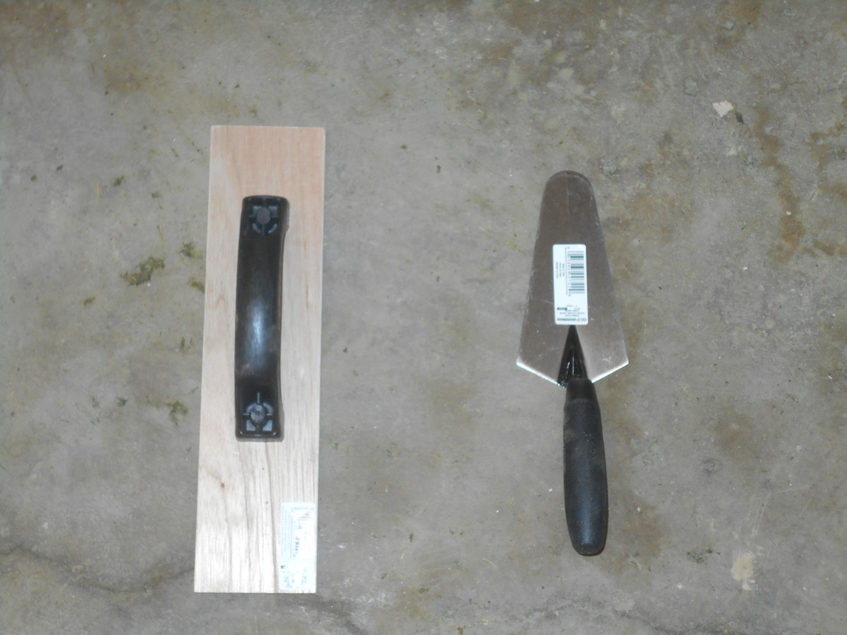 wood float and trowel