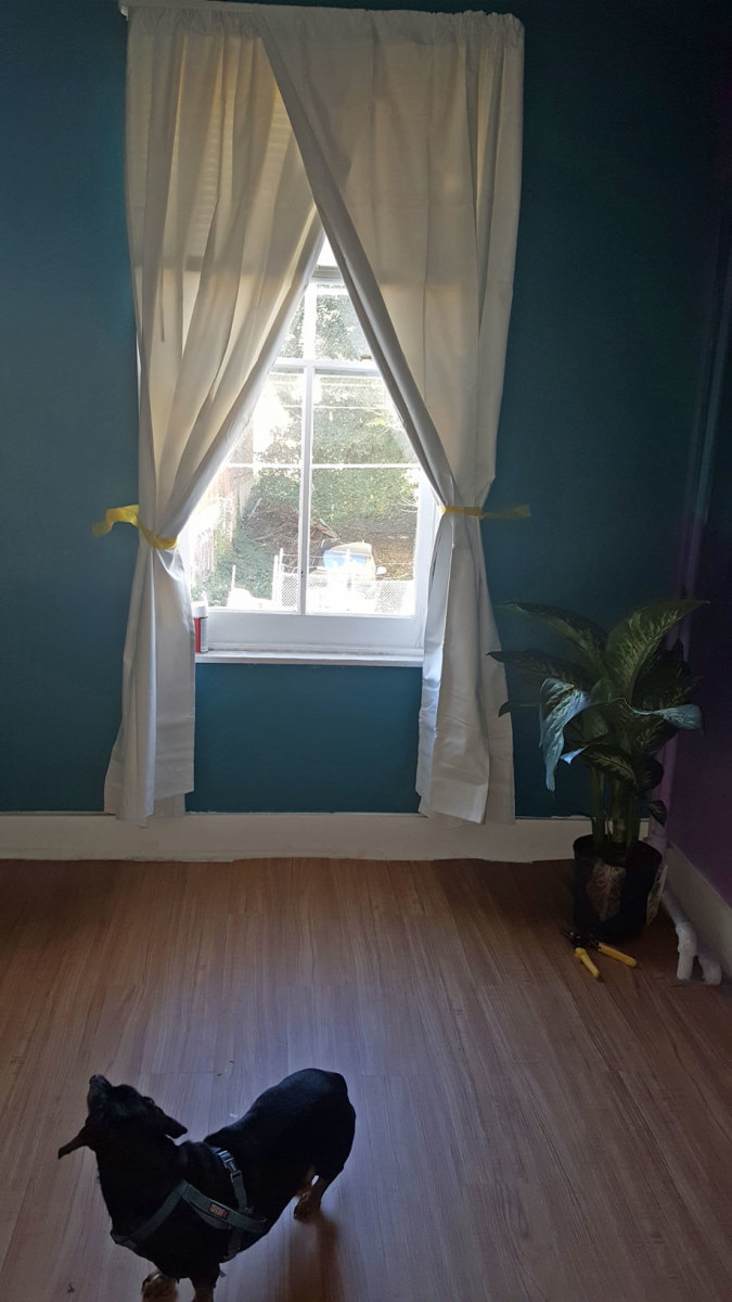 The rest of the room I painted teal