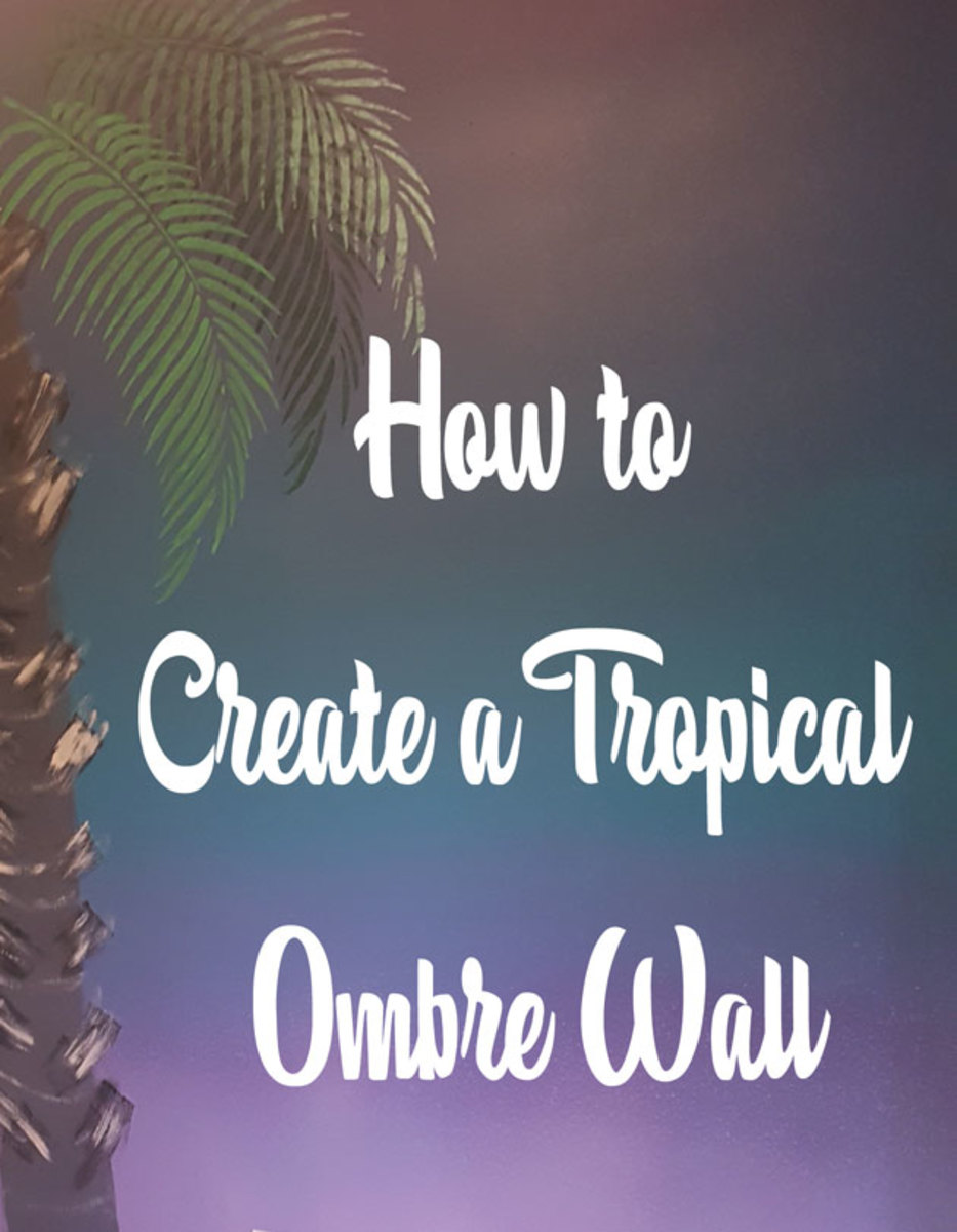 How to Paint a Tropical Ombre Wall