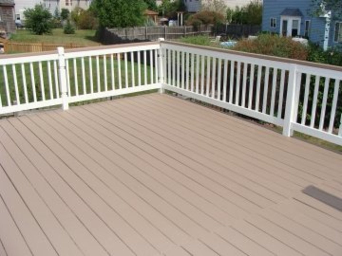 Two coats of SuperDeck in the solid stain.