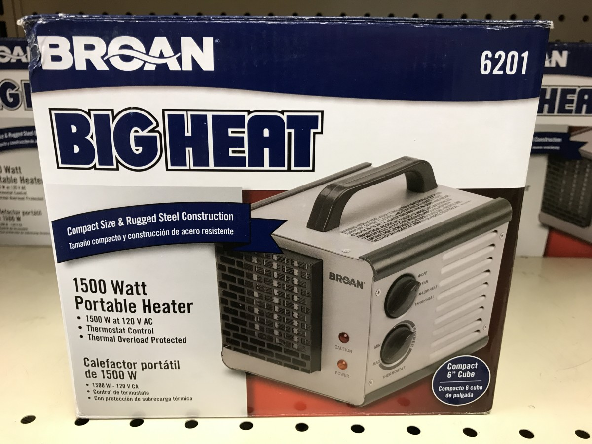 Small heaters can put off a lot of heat in emergency situations. If your heat goes out and the repair can't be made that day, having one in your home may just get you through the night