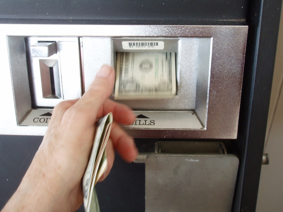 There's a trick to getting these machines to accept newer dollars. You have to crunch the dollar up in your hand and smooth it out again, making it more pliable. You also don't want to insert a $10 bill, because you'll get it all back in quarters.