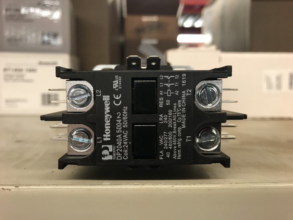 The contactor in your a/c connects and disconnects power when commanded by the furnace and thermostat.