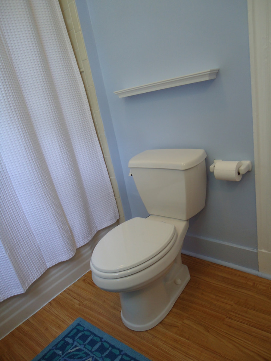 Place the toilet paper holder within easy reach of the seat.
