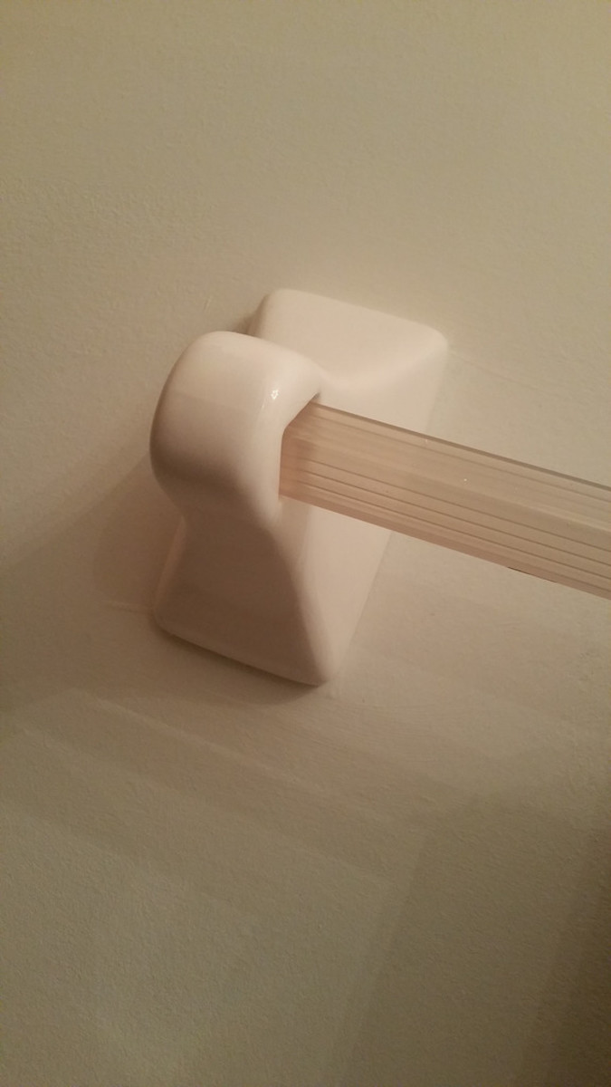 Ceramic Bathroom Fixture On Drywall