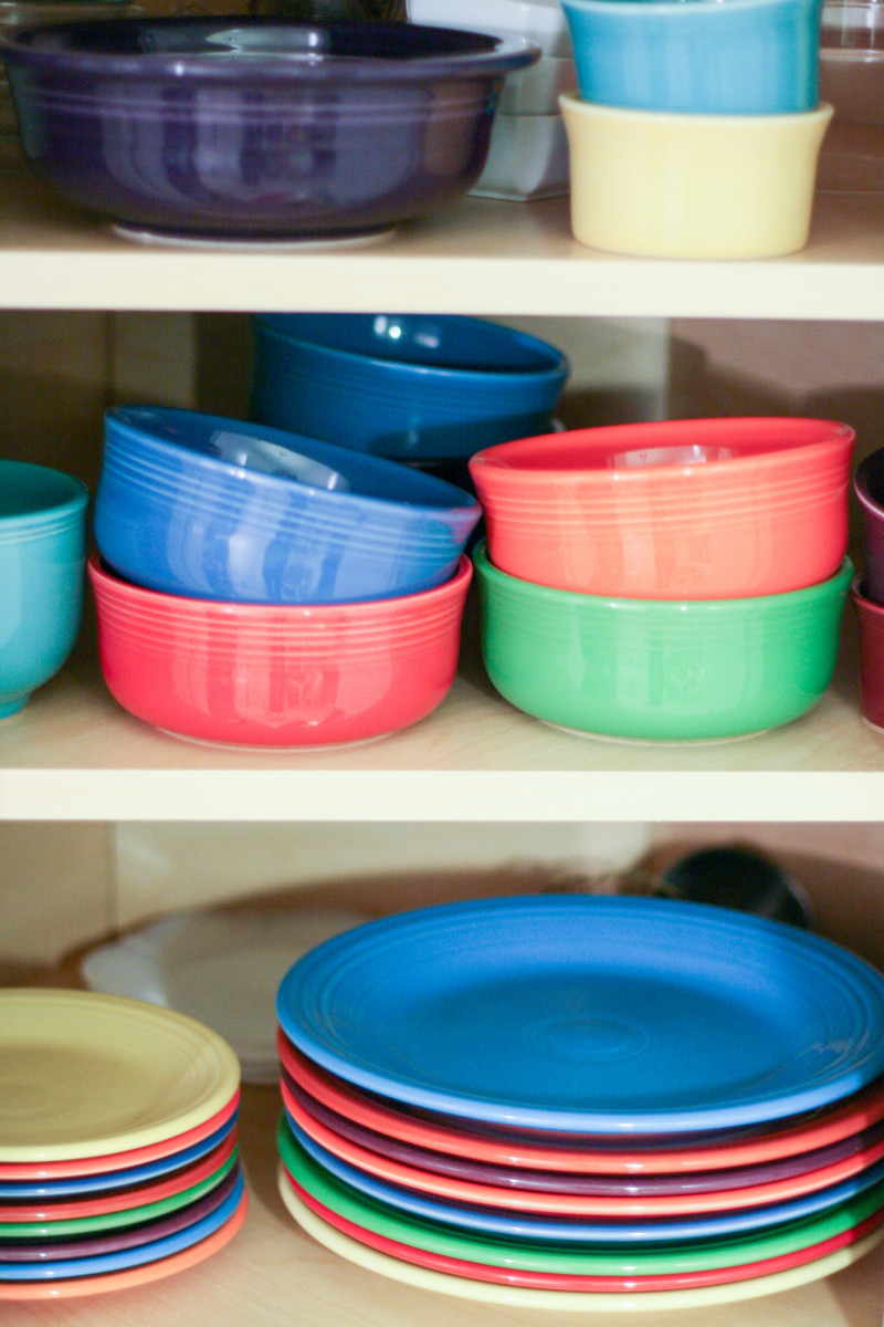 Find a safe and dust free zone to store dishes during renovation.