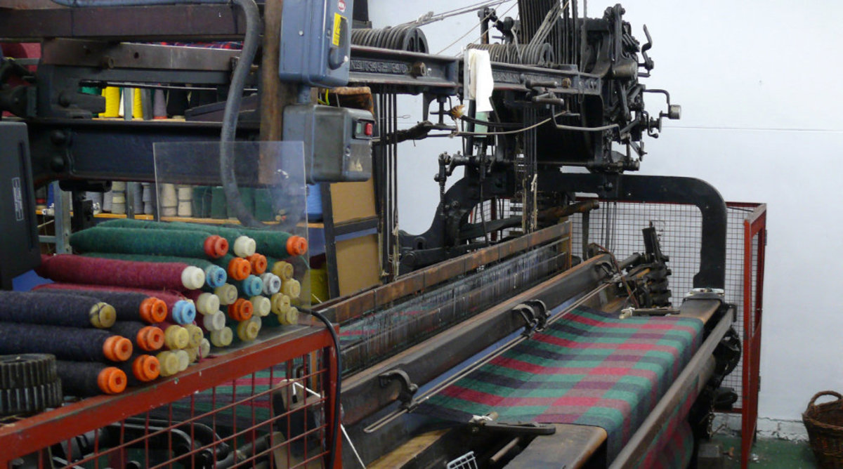 Manufactured rugs are made on power looms that cut the time in more than half of hand made versions.