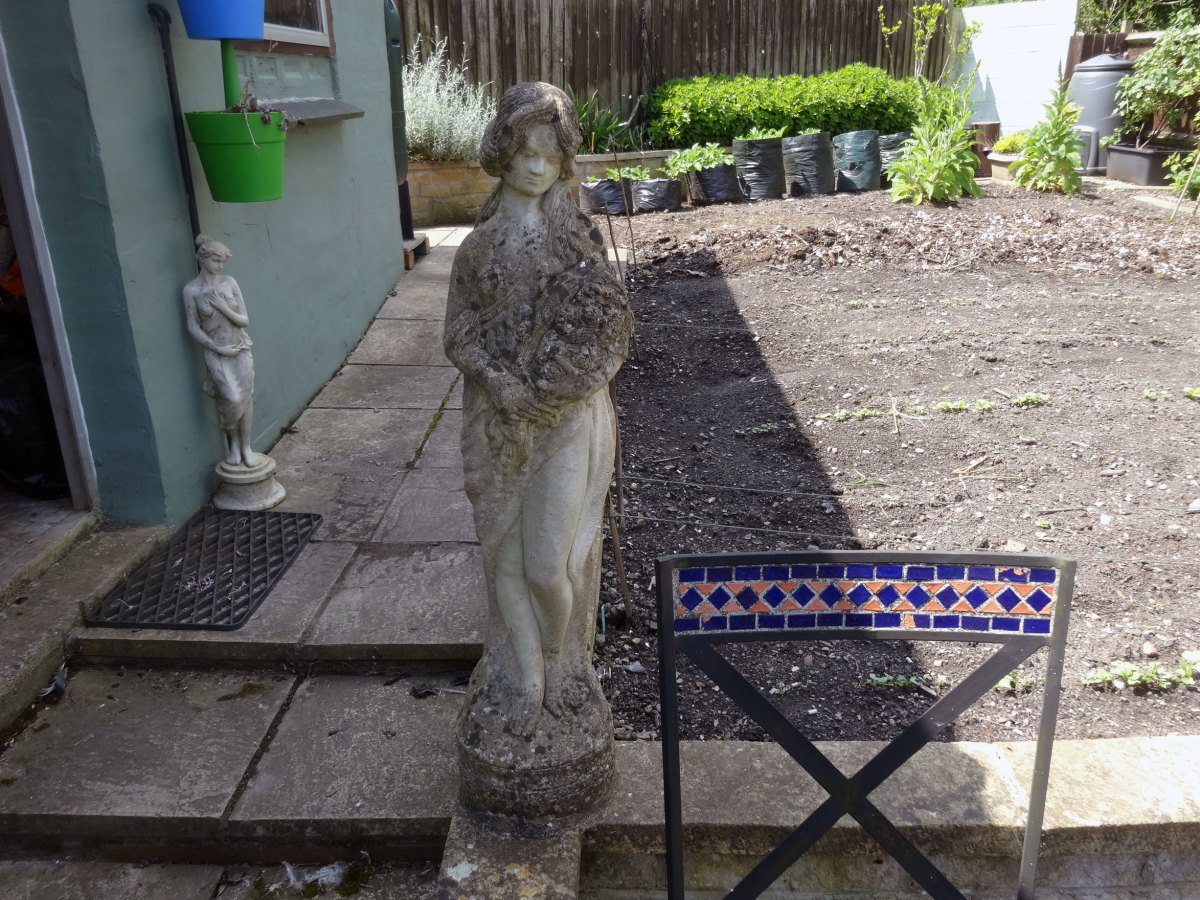 Stone Statue Before Cleaning