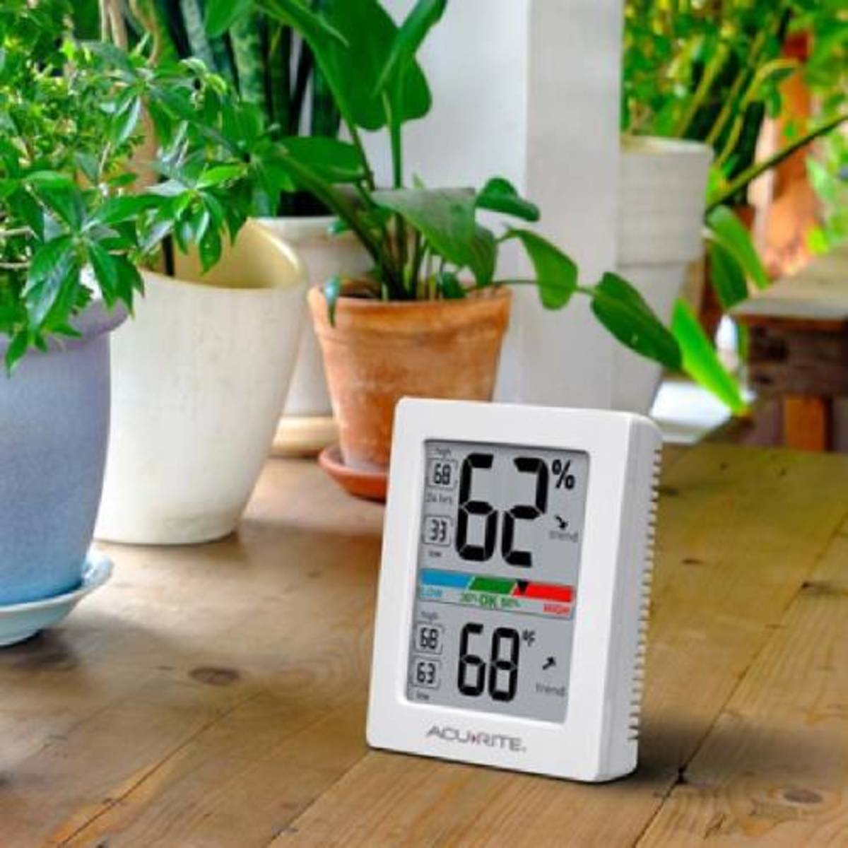 Hygrometers display the exact humidity in the room so you can determine how much to water or mist your plants.