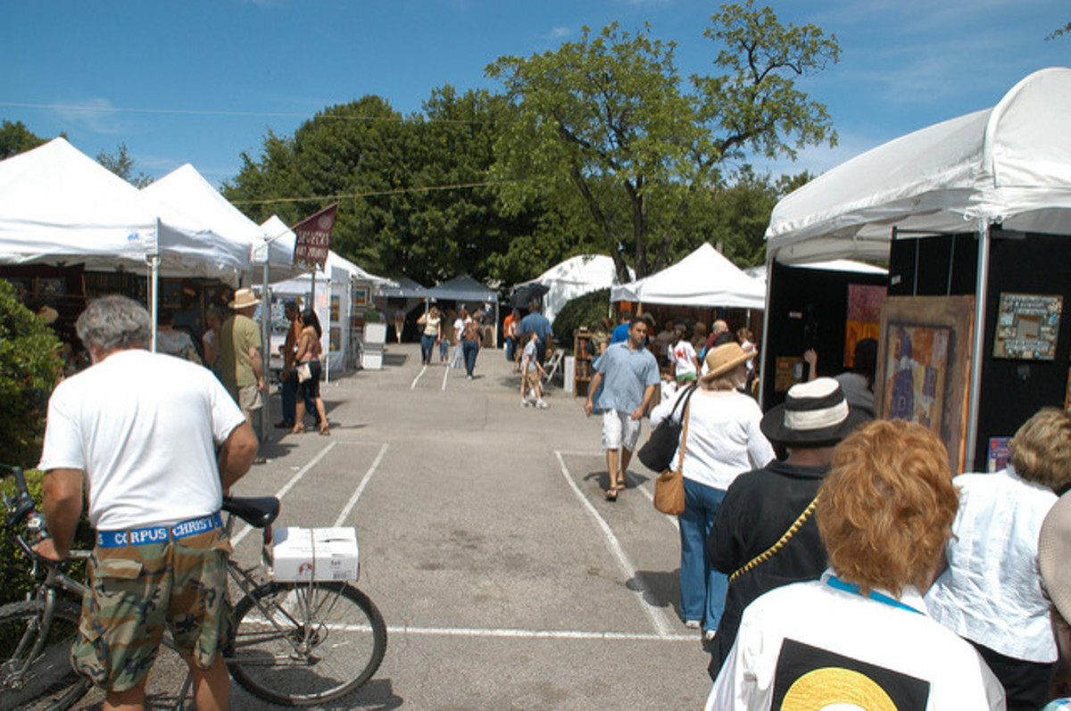 Juried art fairs are a great place to find original pieces from local artists.