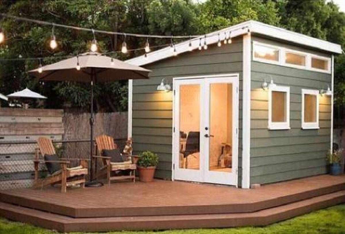 She sheds are ideal for small outdoor gatherings.