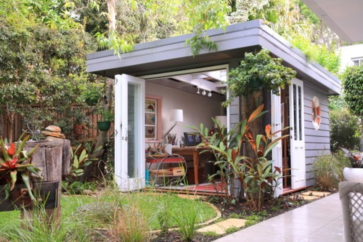 Turn an Ordinary Outdoor Shed into the Ultimate She Shed