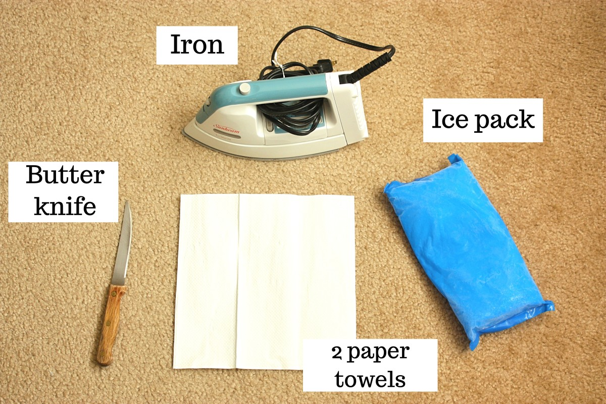Materials for Getting Wax Out of a Carpet