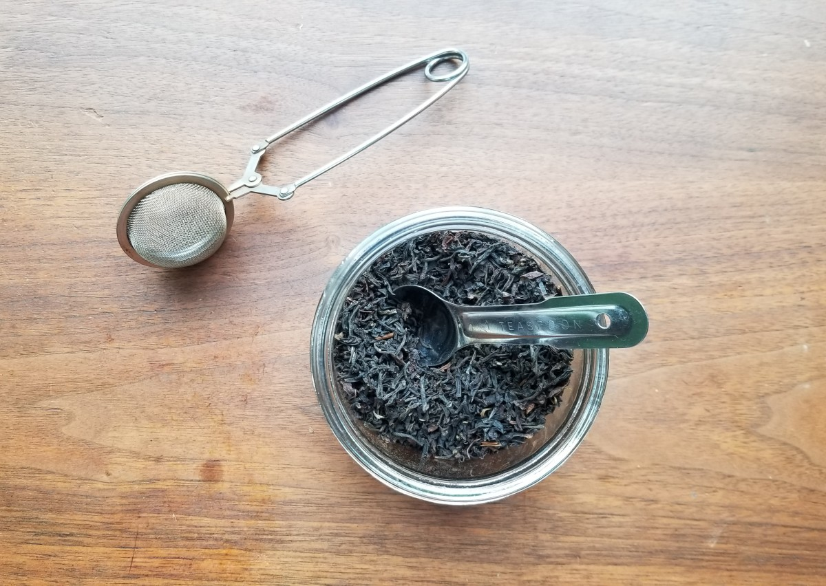 Loose leaf tea means I'm not using several little packets of tea every day