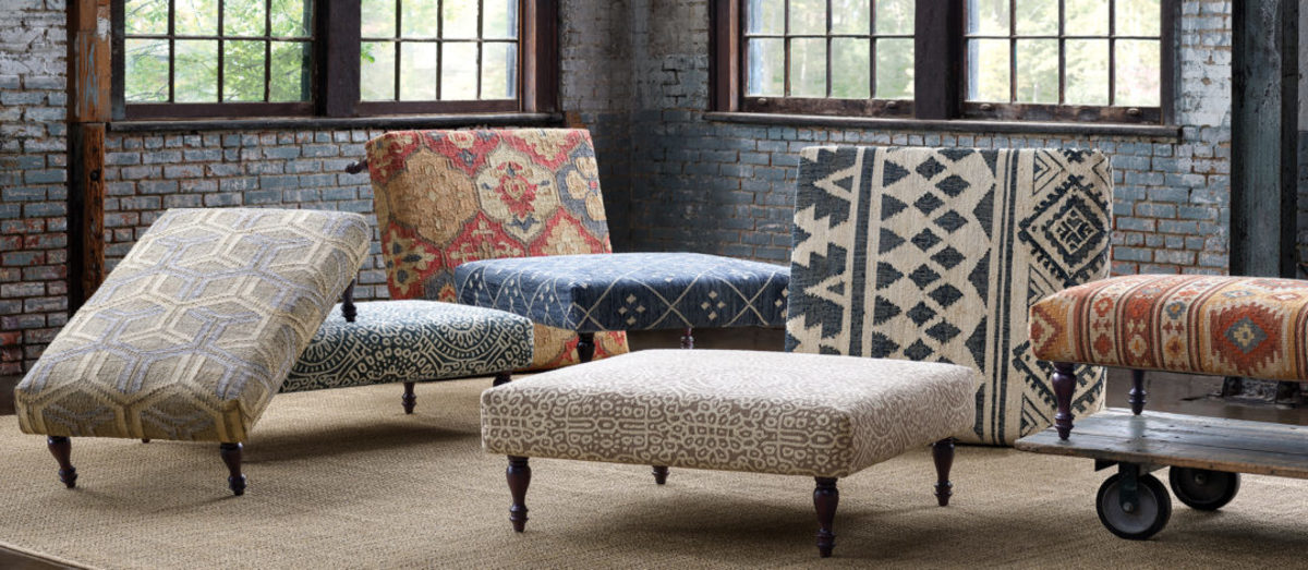 Ottomans can be used for additional seating, coffee tables and foot rests.