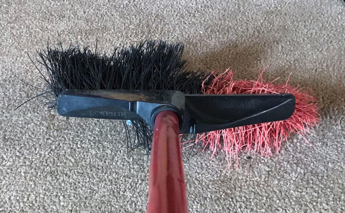 Kinky, bent, splayed bristles just scatter dirt everywhere.