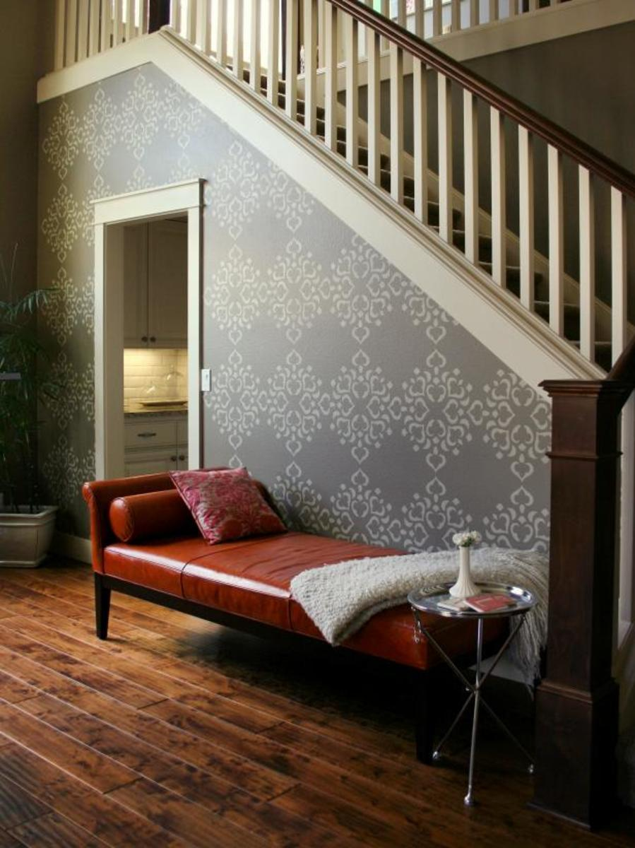 Large stencils add visual movement to a space.