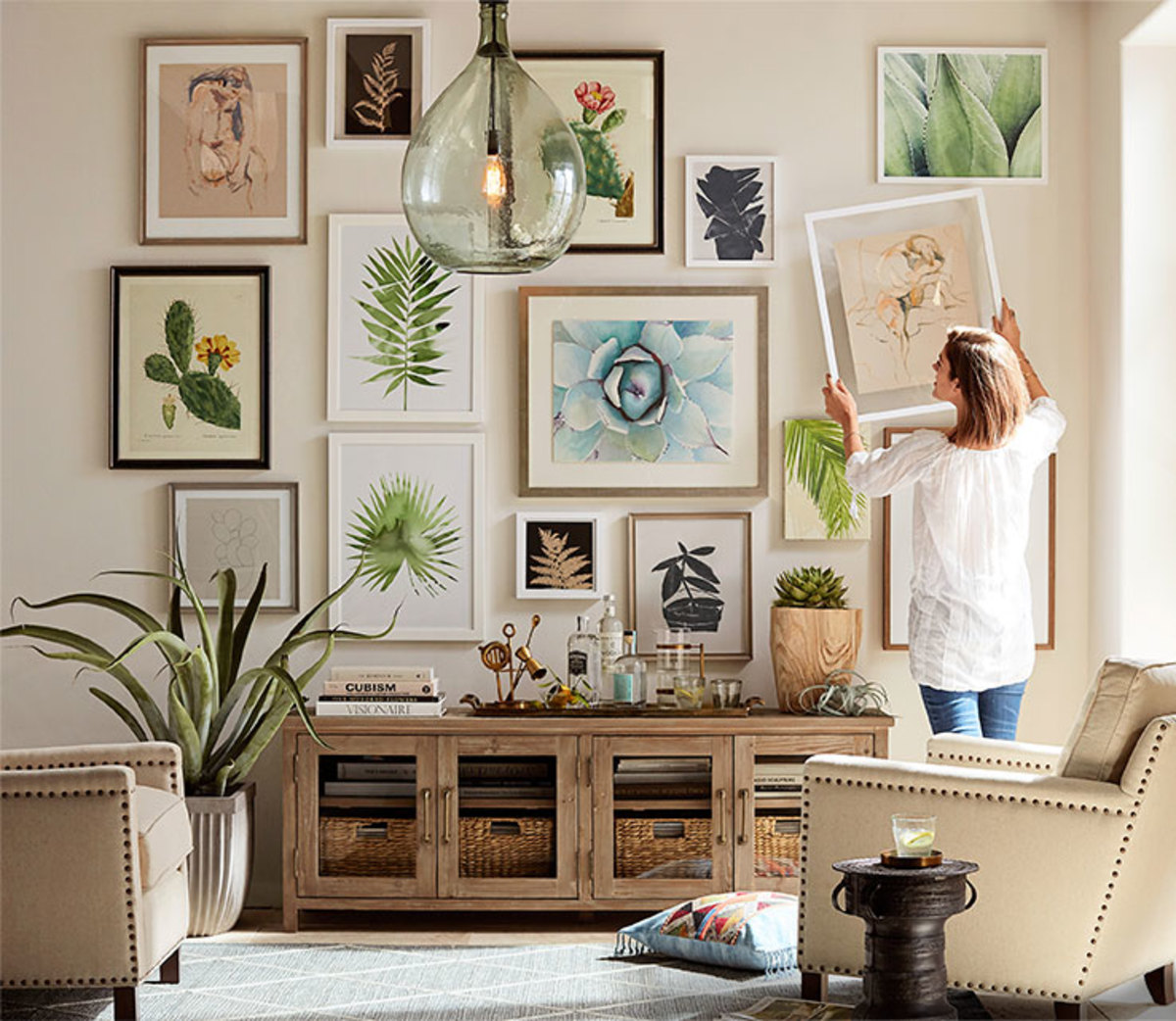 Once you've followed these four simple steps you'll end up with a perfect gallery wall.