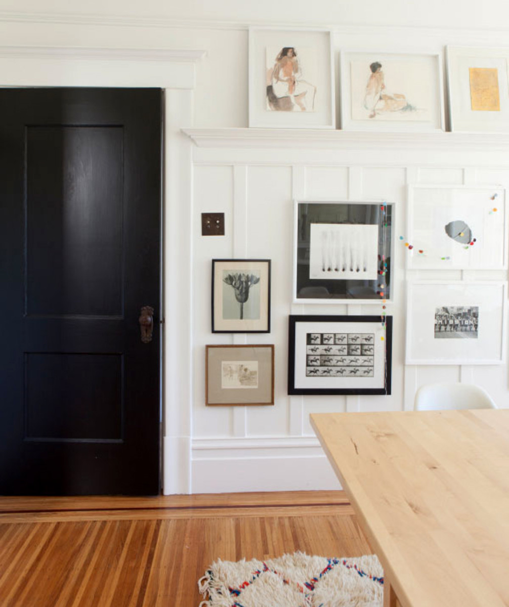 There are great ways to hang art without damaging your walls.