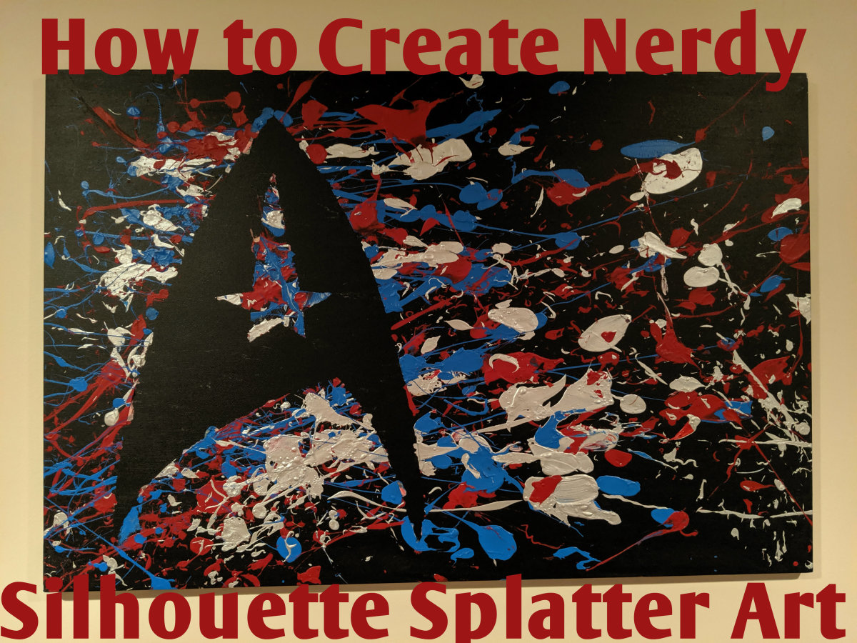 How to Create Nerdy Silhouette Paint Splatter Art