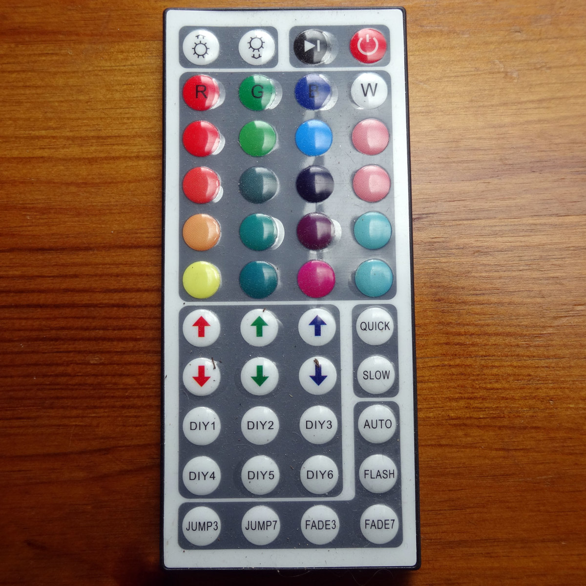 Remote control for LED lights