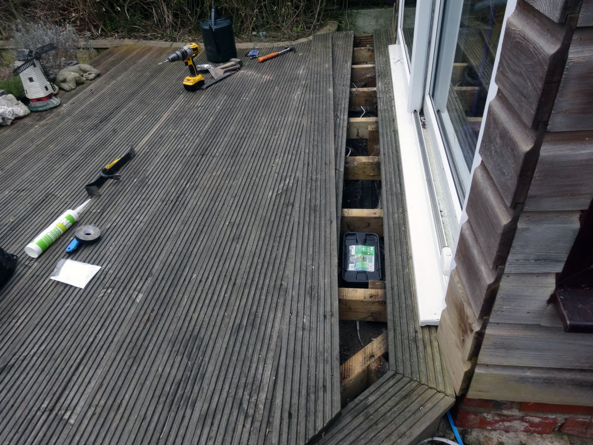 Decking ready to screw back in place.