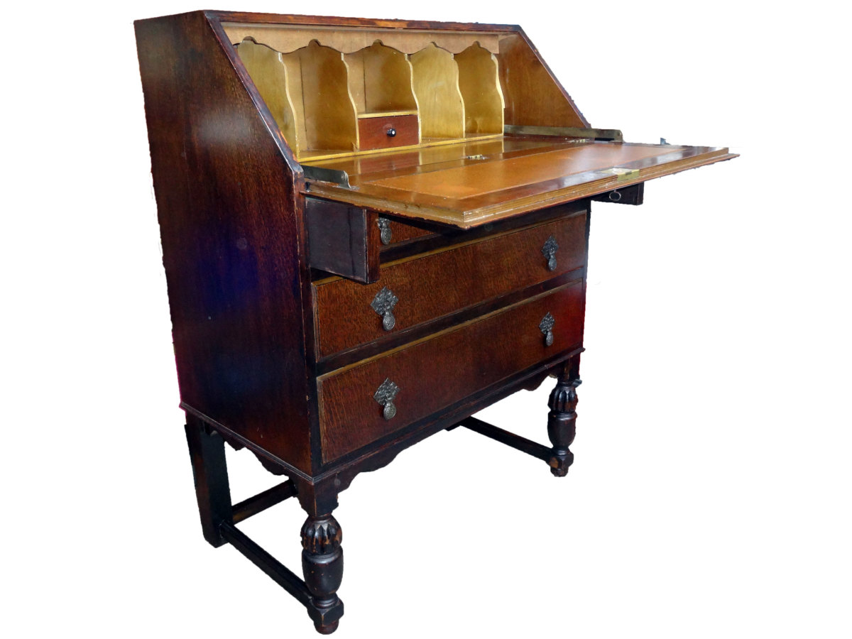Renovating a Writing Desk Bureau to Retain Patina