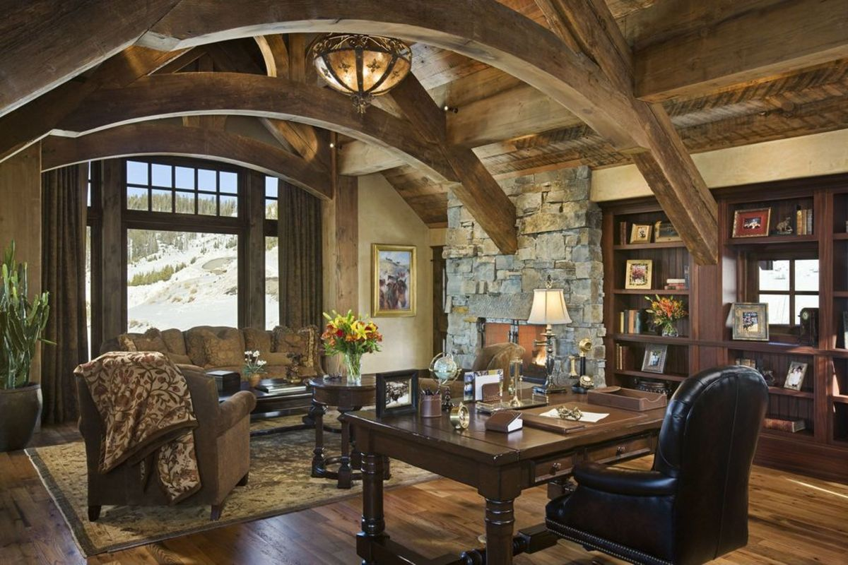 Rustic features and elegant furniture is definitely the hallmark of old world design.