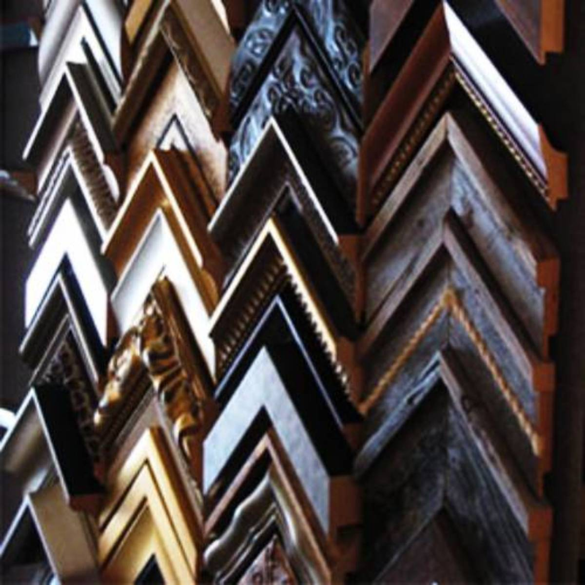 You can choose from wood, plaster, metal or polystyerene.