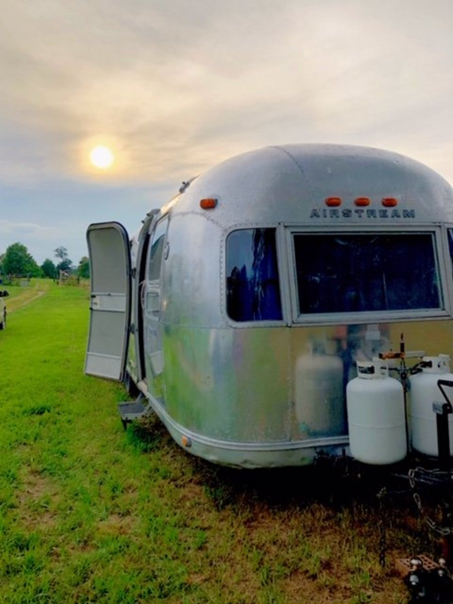 Our 1973 Airstream Sovereign.