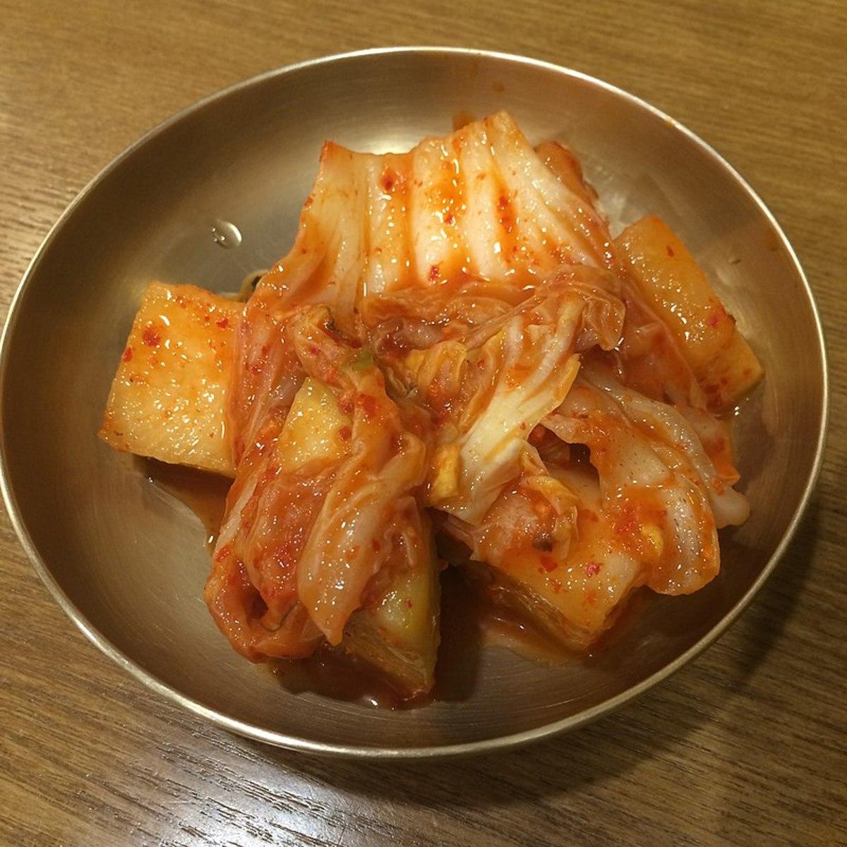 Korean kimchi made with napa cabbage.
