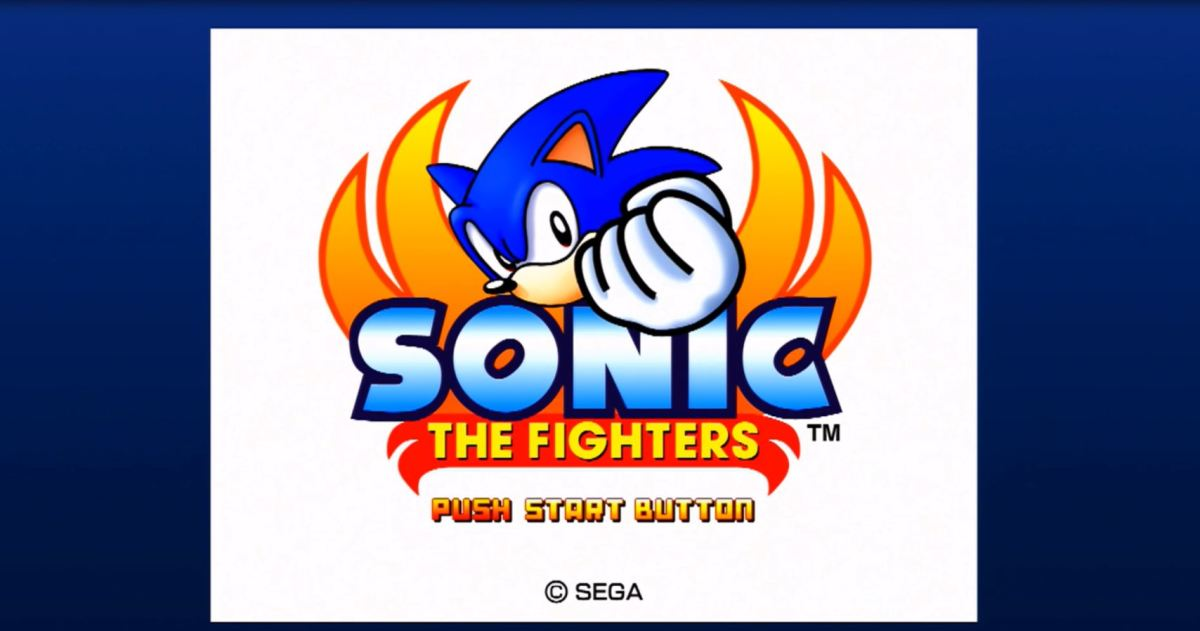 Sonic the Fighters Title screen. Image copyright of Sega.