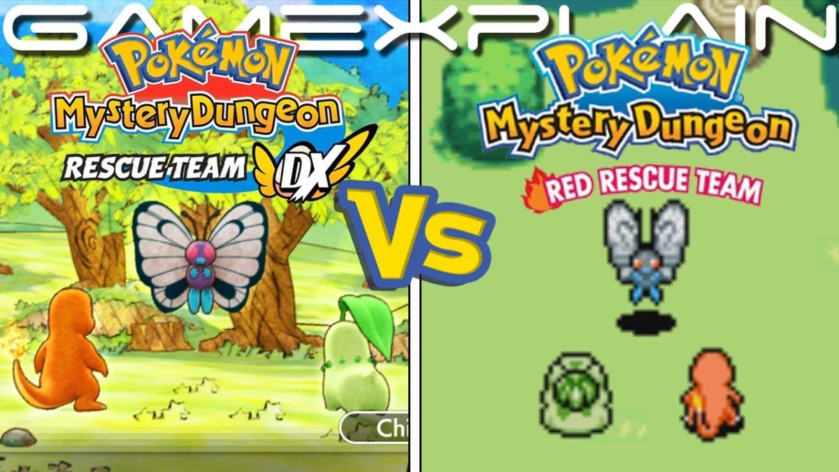 Comparing Pokémon Mystery Dungeon: Blue Rescue Team and Red Rescue Team with Pokémon Mystery Dungeon DX