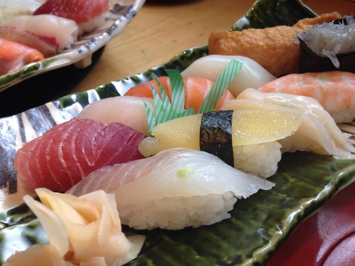 A variety of sushi.