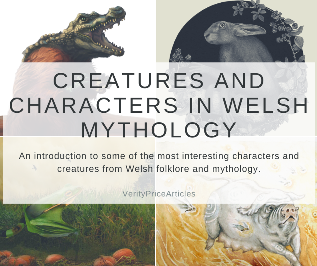 An introduction to some of the most interesting characters and creatures from Welsh folklore and mythology.