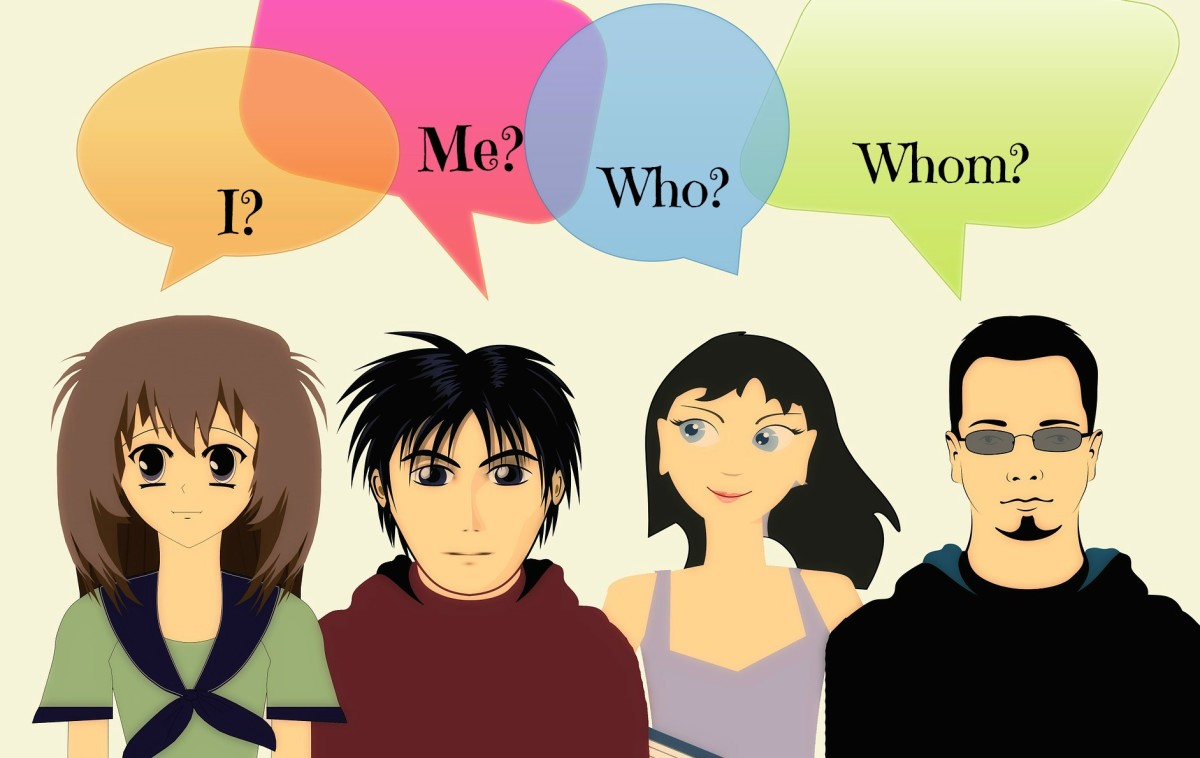 "Are you confused about when to use ""I"" and ""Me""; when to use ""Who"" and ""Whom""?"