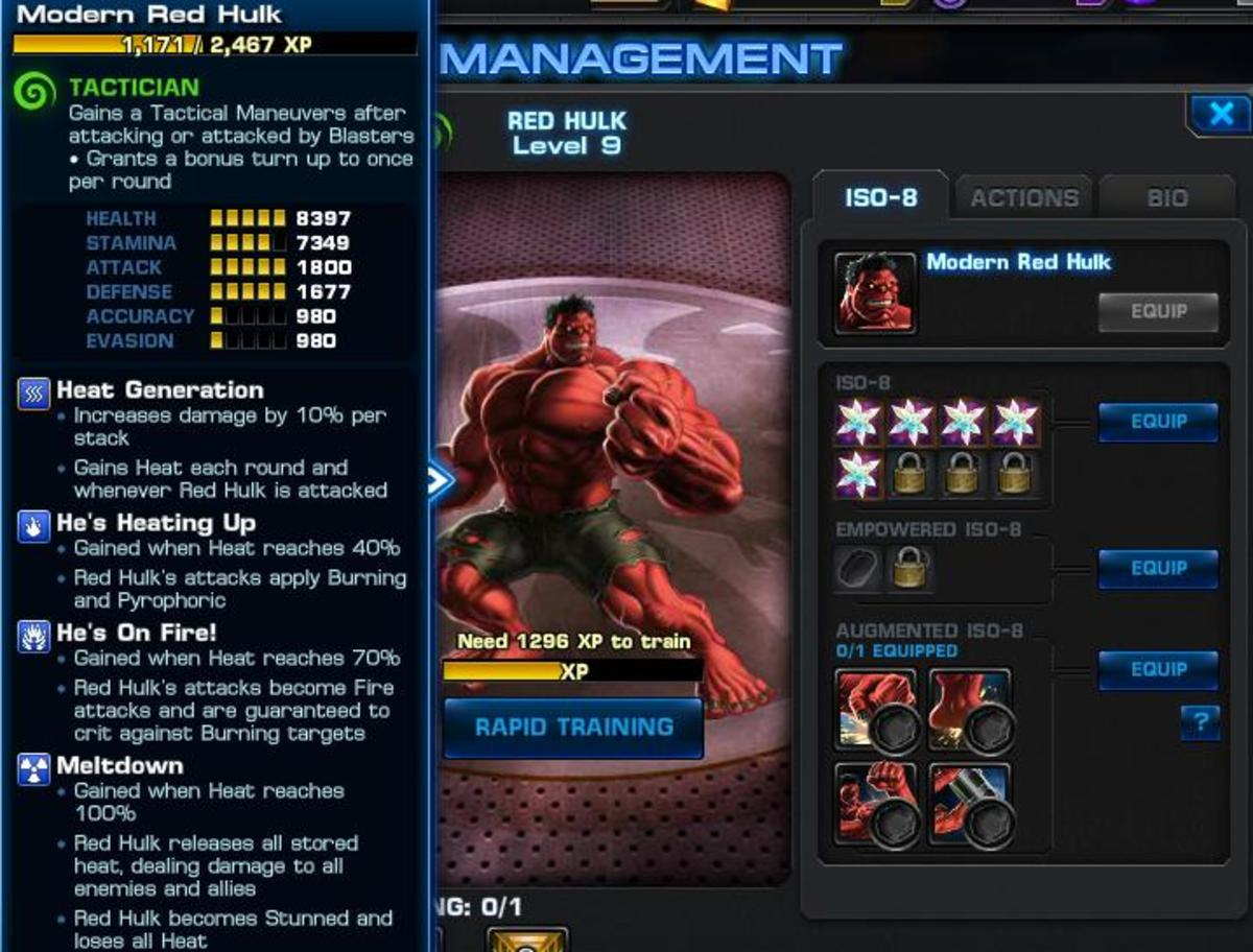 Strategy Guide for Red Hulk in Marvel: Avengers Alliance