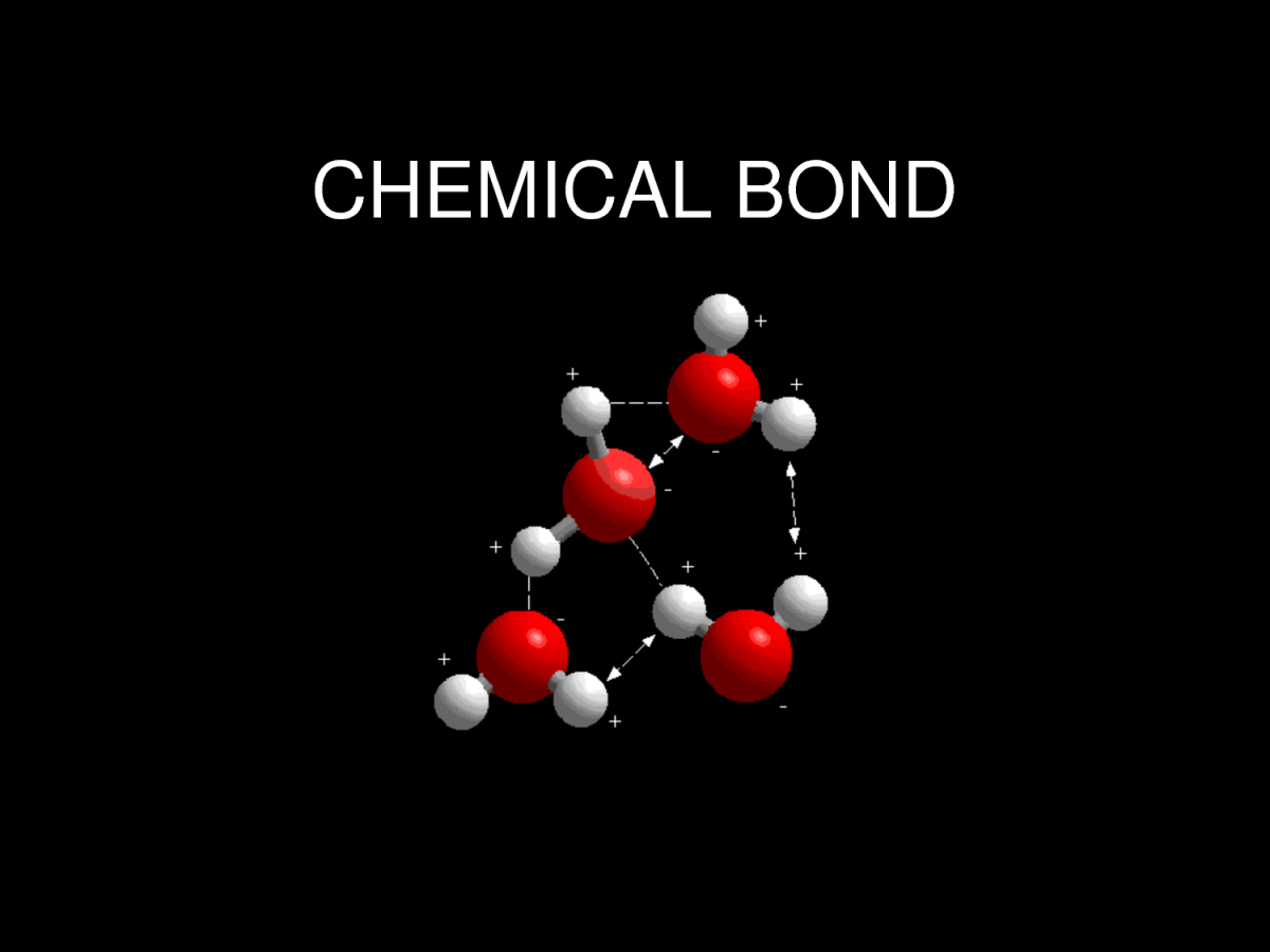The atoms of molecules are linked together through a reaction known as chemical bonding.