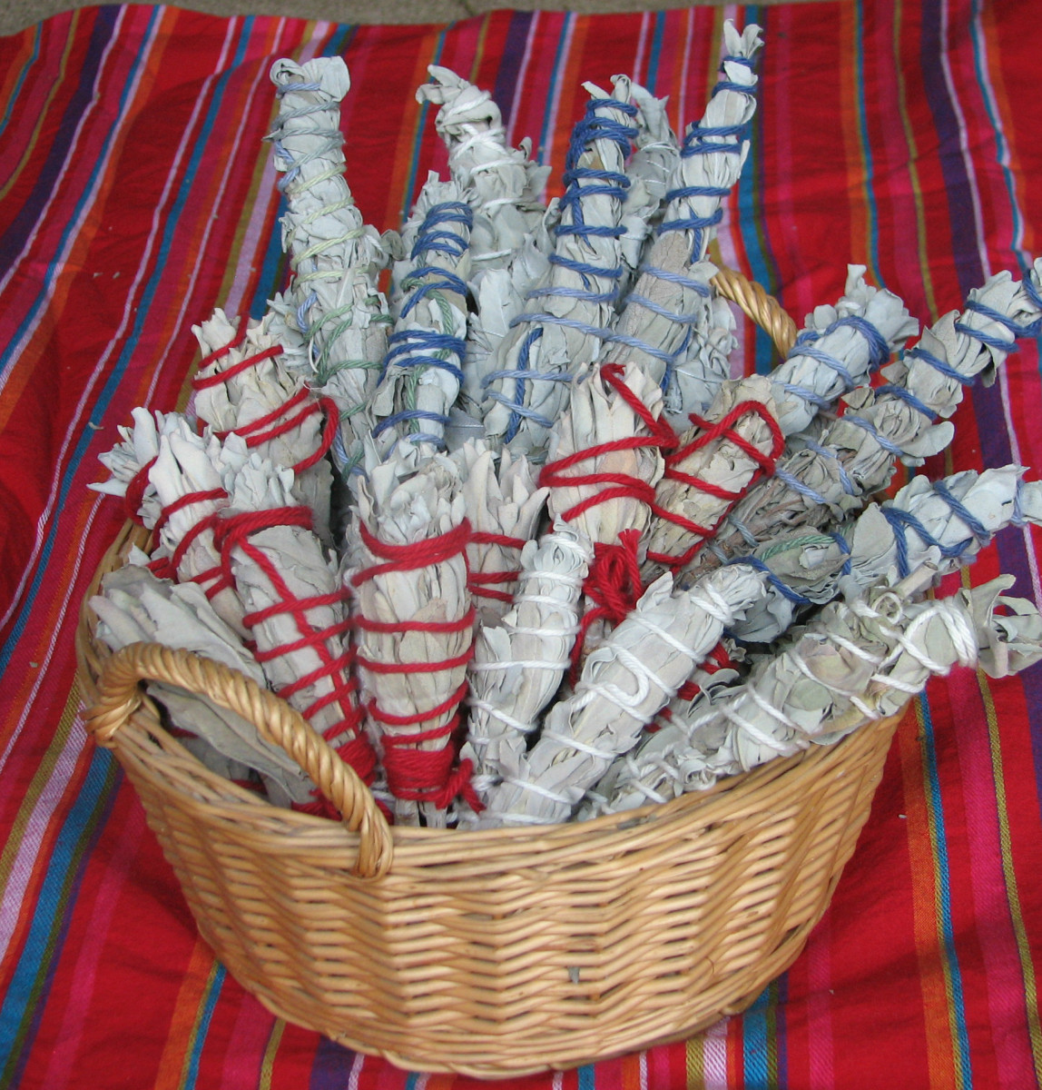 Basket of White Sage Smudge Sticks