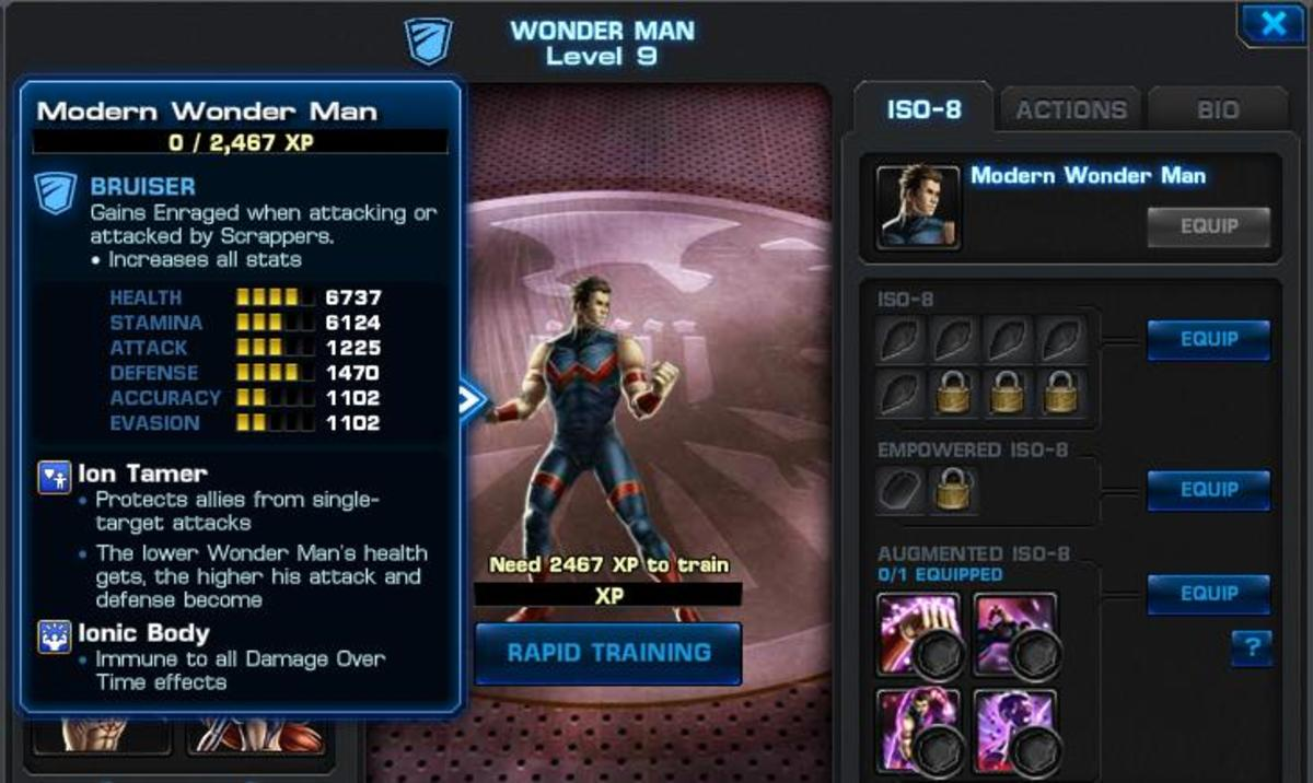 Strategy Guide for Wonder Man on Marvel: Avengers Alliance