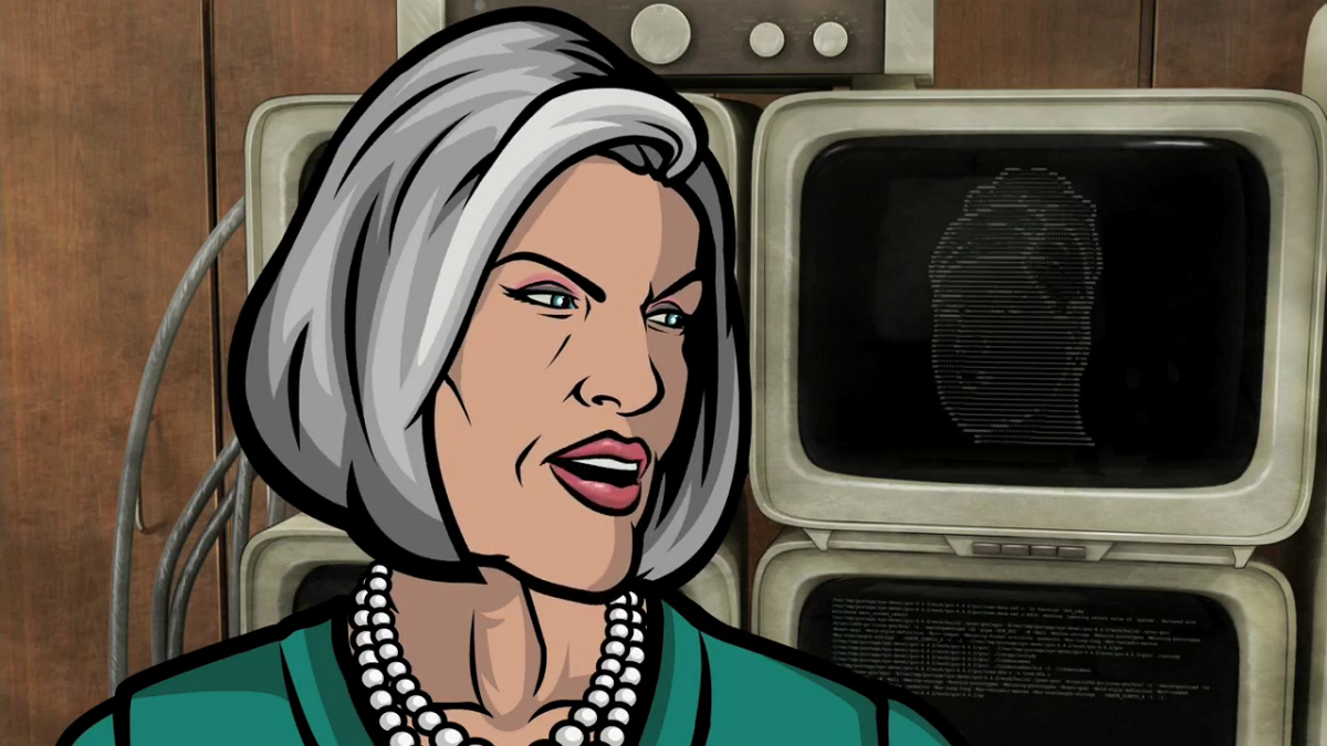 Malory Archer is known as a savage in the TV series Archer.