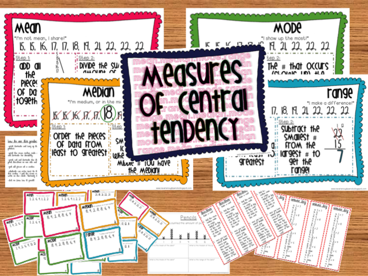 Worksheets Central Tendency measures of central tendency mean median and mode owlcation