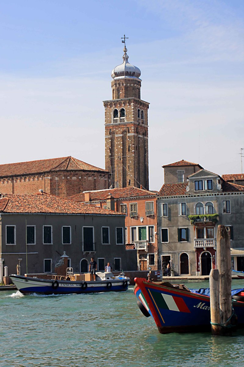The island of Murano, and the bell tower of Chieso di San Pietro Martire