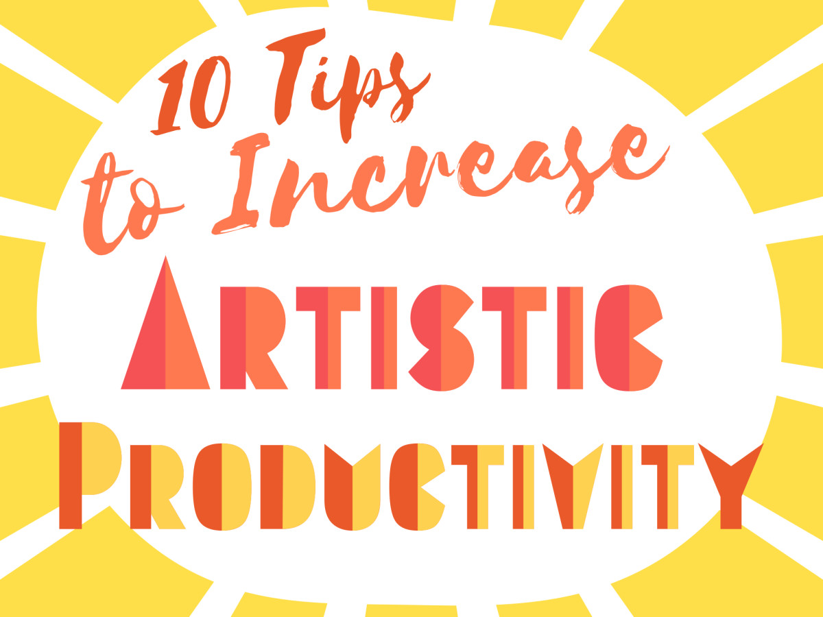 Some wise tips on how to boost creativity and become more productive as an artist, writer, crafter, and in any creative activity. Time management and motivational advice.